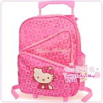 กระเป๋าล้อลาก Hello Kitty สีชมพู Hello Kitty trolley bags / Hello Kitty three-tier school bags / kitty schoolbags / schoolbags