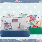 พร้อมส่งค่ะ Cath Kidston PART COATED canvas zip pouch