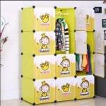 สีเขียว ตู้ DIY ลายการ์ตูนลิงน้อย มีหลายขนาด 6,8,9,12,16 ช่อง พลาสติกหนา รับน้ำหนักได้ช่องละประมาณ 10-15 กิโลกรัม