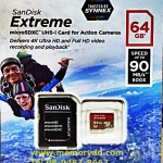 MicroSD Sandisk Extreme 64GB 90MB/s (600X)(SIS/Synnex)