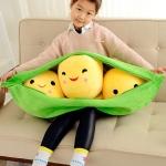 ตุ๊กตาถั่วลันเตา ไซด์จัมโบ้ เมล็ดสีเหลือง