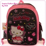 กระเป๋าสะพายหลัง Hello Kitty สีชมพูดำ Hello Kitty black schoolbag / Hello Kitty backpack / kitty schoolbags