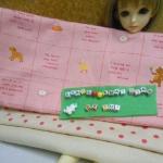 ผ้าจัดเซตคู่ผ้าสั่งจากญี่ปุ่นผืนบน(27x 50cm) +ผ้าซื้อในไทย (27x55cm) 2ชิ้น