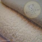 เซตผ้าขนสั้นสำหรับเย็บตุ๊กตาหมี - โทนสีขาว