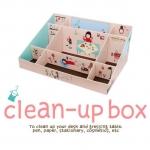 DIY Clean-up box กล่องเก็บของน่ารักๆ กล่องจัดระเบียบ  (สั่งซื้อ6ชิ้น เหลือชิ้นละ 80 บาท)