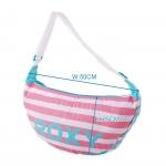 กระเป๋าสะพาย/คาดตัว Roxy ทรงแตงโมจากนิตสารญึ่ปุ่น สีหวานน่ารักเหมือนลูกกวาด