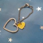 พร้อมส่งค่ะ Guess crystal hearts pendant สำหรับห้อยกระเป๋าจ้า