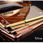 Luxury Bumper Mirror Cover สำหรับ Vivo Y37