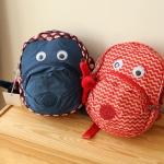 พร้อมส่ง KIPLING fast backpack for kids ลายแดง-ขาว
