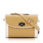 [Preorder] กระเป๋าสะพายข้างแฟชั่นเก๋ๆ สไตล์ Retro สี Apricot (เบจ) 2013 new handbag shoulder bag handbag Messenger bag handbags Korean sweet little fresh influx of women bags
