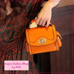 [Preorder] กระเป๋าแฟชั่น Retro ใบเล็กสีส้ม the Mahogany Shop bags 2012 new tide handbags Korean retro little shoulder bag Messenger bag