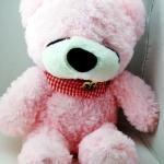 ตุ๊กตาหมีหลับ ตัวเล็ก น่ารัก น่ากอด ขนาด 45 เซ็นติเมตร สีชมพู