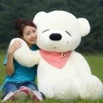 ตุ๊กตาหมีหลับ ตัวใหญ่ ขนาด 1.6 เมตร สีขาว