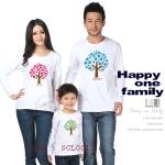 ชุดครอบครัว เสื้อครอบครัว เสื้อยืดแขนยาวสกรีนลาย ต้นรัก (ดูสีเสื้อด้านในค่ะ มีหลายสี) - pre order