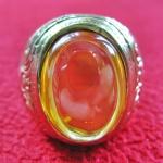 สินค้าหมดค่ะ แหวนพลอยมณีใต้น้ำ(เพชรพญานาค)สีเหลืองเนื้อทองเหลือง(ทุกราศี)ค่ะ