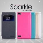 เคสหนังฝาพับ BlackBerry Z3 ยี่ห้อ Nillkin Sparkle Leather