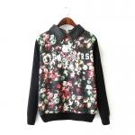 [Preorder] เสื้อสเว็ตเตอร์แฟชั่นแขนยาวปกเชิ๊ต สกรีนลายเก๋ๆ MICN Europe station 2015 spring new printing stitching ladies fashion leather collar hedging sweater coat female