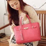 [Preorder] กระเป๋าถือแฟชั่น สีชมพู Beauty 2014 luxury meticulous Animal briefcase bag new wave of female female bag Post European and American fashion handbagsNew starting the whole networkAnimal tassels
