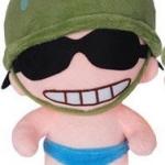 ตุ๊กตาพลทหารพราน ตัวเล็กน่ารักๆๆ หน้ายิ้มแป้นเห็นฟัน ใส่แว่นตาดำ ตัวเล็กขนาด 23 CM