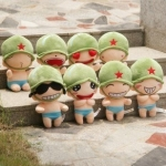 ตุ๊กตาพลทหารพราน ตัวเล็กน่ารักๆๆ ทุกหน้าเซต 8 ตัว ตัวเล็กขนาด 23  CM