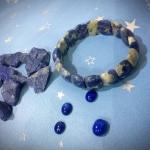 พร้อมส่งค่ะ กำไล Lapis Lazuli แบบยืดขยายได้