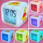 [Preorder] นาฬิกาปลุกเปลี่ยนสีได้หมีพูลล์ discoloration colorful cartoon alarm clock (2 อัน/แพ็ค)
