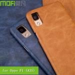 กรอบหนัง Oppo F1 (A35) ยี่ห้อ MOFi Vintage Cover