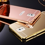 Luxury Mirror Case with Aluminium Bumper สำหรับ Samsung Galaxy Note 4
