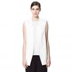 [Preorder] เสื้อสูทแฟชั่นแขนกุด แบรนด์ ZARA สีขาว (ไซส์ S M L) European Grand Prix 2014 spring and summer new ZARA MICN chest vest vest vest jacket waistcoat jacket Spring