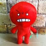 ตุ๊กตาline ขนาดเล็กสุด 30 CM รุ่นมูน Moon ตัวสีแดงหน้าโมโห บ่งบอกอารมณืว่ากำลังโกรธ