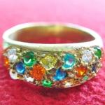 สินค้าจองค่ะ แหวนพลอย5สี เนื้อทองเหลืองค่ะ