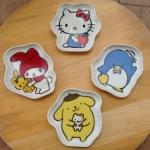พร้อมส่งค่ะ Sanrio Characters ceramic plate 4 pcs set