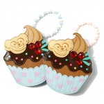 Japan Disney resort Duffy Bear Cupcake zipper coin purse สีฟ้า