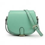 [Preorder] กระเป๋าแฟชั่นสะพายข้างใบเล็ก สีเขียว Shoulder bag diagonal handbags retro ladies bag 2012 new wave hit color candy packet Korean Fashion Messenger