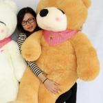 ตุ๊กตาหมีหลับ ตัวใหญ่ ขนาด 1.6 เมตร สีน้ำตาลอ่อน