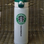 พร้อมส่งค่ะ Starbucks tumbler 450 ml โทน ขาว-เขียว