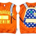 เหลือกแต่ Size M   4 ตัวค่ะ    เสื้อผ้าเด็ก แบบเสื้อแขนกุด  ใส่สบาย สกรีนลายเป้ สีส้ม