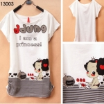 [Preorder] เสื้อยืดแฟชั่นแขนสั้นสกรีนลาย I'm the Princess Junior high school students every day special summer youth academy cute cartoon style girl T-shirt