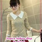 เสื้อแขนยาวแฟชั่นสี Apricot 2012 spring new Women lady pearl collar lapel long-sleeved sweater knitted cotton long-sleeved T-shirt