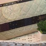 กระเป๋าสตางค์ใบยาวงานควิลท์-ผ้าคอตตอนลินินโทนเทา
