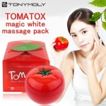 Tony Moly Tomatox Magic White Massage Pack 80 กรัม มาส์กหน้าขาวใสเนียนนุ่ม ไร้จุดด่างดำ ขาวกระจ่างใสแบบเกาหลีเพียงนวดและมาส์กไว้15นาที