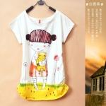 [Preorder] เสื้อยืดแฟชั่นแขนสั้นสกรีนลายเด็กผู้หญิงน่ารักๆ 2013 summer new Korean version of the Korean version of the cute cartoon girl loose primer shirt short sleeve tide female avatar T-shirt