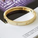 กำไล Cartier 14k Rose Gold Love เพชร 4 เม็ด