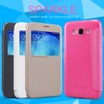 เคสหนังฝาพับ Samsung Galaxy J5 ยี่ห้อ Nillkin Sparkle Leather