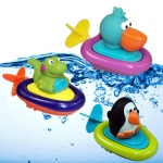 ถูกกว่าห้าง Sassy Pull and Go Boat Bath Toy เมื่อดึงใบเชือกด้านท้ายเรือจะแล่นไปในน้ำ เพิ่มความสนุกในการเล่นน้ำคะ ปลอดภัยไม่ต้องใช้ถ่านค่ะ (ราคานี้เป็นราคา 1 ตัว)