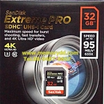 Sandisk SD Extreme Pro 32GB 95MB/s (633X) (SIS/Synnex)