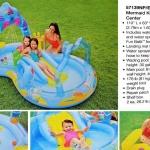 มีสไลเดอร์ มีเครื่องพ่นน้ำได้ด้วย Intex Mermaid Kingdom Play Center Kids Inflatable Pool w/ Sprayer Slide ขนาด279 ซม. กว้าง 160 ซม. และความสูง 140 ซม. (อย่าลืมซื้อปั้มไฟฟ้า)