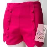 กางเกงแฟชั่นเอวสูงสุดฮิต สีชมพูช็อกกี้พิงค์ มีไซส์ M,L