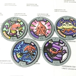 เหรียญ DX Yo-Kai Watch สีเทา Set 5 เหรียญ ไม่ซ้ำแบบ มือสอง