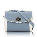 [Preorder] กระเป๋าสะพายข้างแฟชั่นเก๋ๆ สไตล์ Retro สี Blue smoke (ฟ้าหมอก) 2013 new handbag shoulder bag handbag Messenger bag handbags Korean sweet little fresh influx of women bags